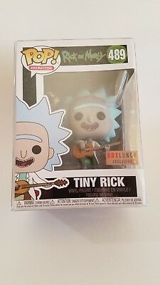 FUNKO Pop! Tiny Rick #489 Boxlunch Exclusive NIB & Pop Protector IN HAND