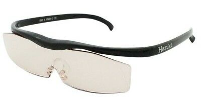 Hazuki glasses loupe large size with 1.32 times Magnifier color lens black F/S !