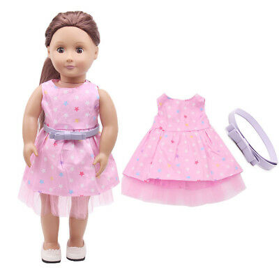 "Clothes For 18"" American Girl Our Generation My Life Doll Pink Party Dress"