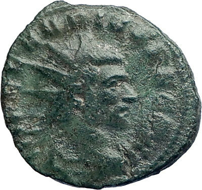 CLAUDIUS II Gothicus 268AD Authentic Ancient Roman Coin Mars Trophy  i74204