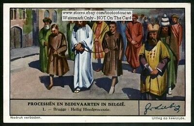Holy Blood Procession Brugge Belgium 1930s Trade Ad Card