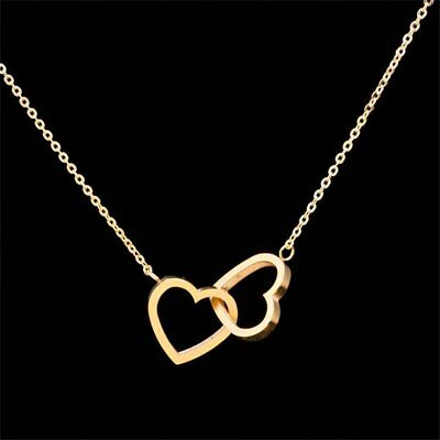 Women's 18K Gold Plated Hollow Hearts Pendant Necklace Party Jewelry Gift Hot