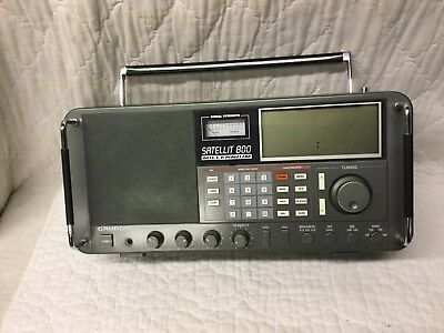 Grundig Satellit 800 Millenium Portable Shortwave Radio with AM FM VHF Aircraft