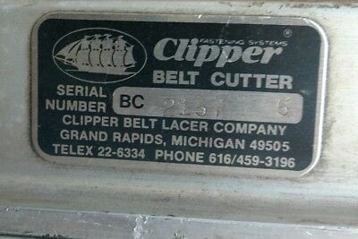 Clipper 5 foot Belt Cutter - Conveyer Belt Lacer