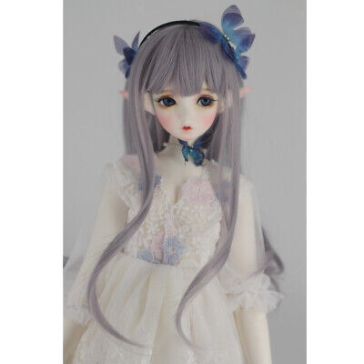Fashionable DIY Straight Hair Wig For 1/3 BJD SD DOT Dollfie Making DIY Gray