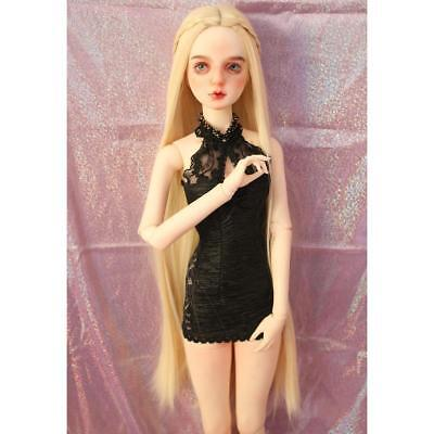 DIY Straight Hair Wig For 1/3 BJD SD LUTS DELF DOT Making DIY Accs Beige