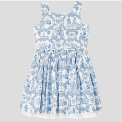 Costume Dress DISNEY Beauty & Beast BELLE French Blue Toile Lace Trim Girls 5T