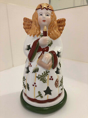 19cm VILLEROY & BOCH ANGEL CHRISTMAS TEA LIGHT PORCELAIN CANDLE ORNAMENT HOLDER