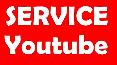 Youtube service: high retention viêws, HQ subscribe, likês, watch hours