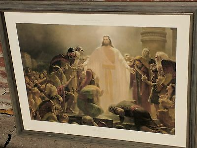 """Arnold Friberg """"The Risen Lord"""" art print 'Christ Appearing to the Nephites' """"Li"""