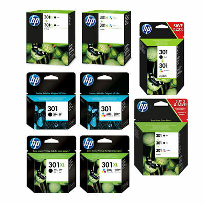 Original HP 301 / 301XL Black & Colour Ink Cartridge For DeskJet 1050A Printer