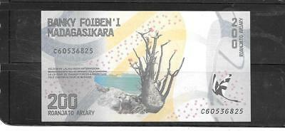 Madagascar 2017 200 Ariary New Unc Banknote Paper Money Currency Bill Note