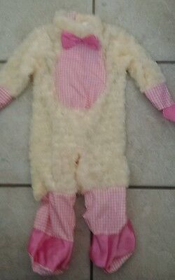 Rubie's Girl LIL LITTLE PINK LAMB SHEEP Costume Jumpsuit Only 0-6 MONTHS