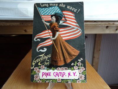 1910 Postcard Greetings From Pine Camp New York