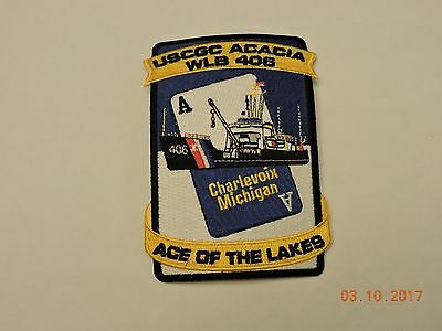 US Coast Guard USCGC Acacia WLB 406 Charlevoix Michigan Ace Lake USCG Patch #21
