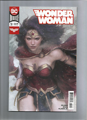 "Dc Comics; Wonder Woman #51  Awesome Cover Art By Stanley ""artgerm"" Lau Nice!!!!"