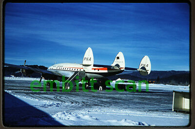 Original Slide, PNA Pacific Northern Airlines Lockheed L-749A Constellation 1962
