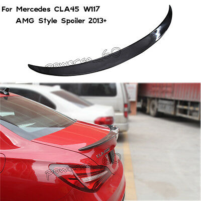 Carbon Fiber Rear Roof Spoiler Wing Fit For Mercedes Benz CLA250 CLA45 AMG 13-17