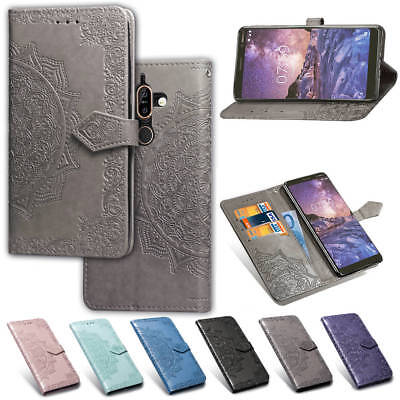 For Nokia 3.1 5.1 Nokia 7 Plus Card Slot PU Leather Flip Stand Phone Case Cover