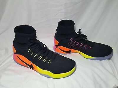 low priced 6975e e6a8e ... coupon for nike hyperdunk 2016 fk flyknit unlimited black volt orange  pink 843390 017 12 5483f ...