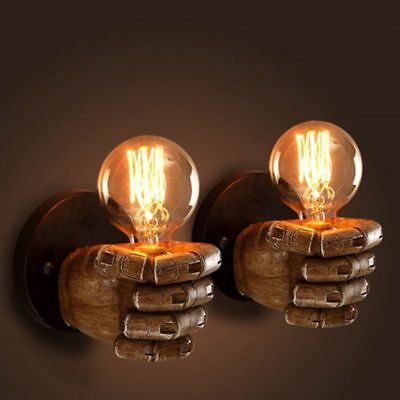 Creative Wall Lamp Personalized Fist Sconce Resin Decorative Lighting Wall Light