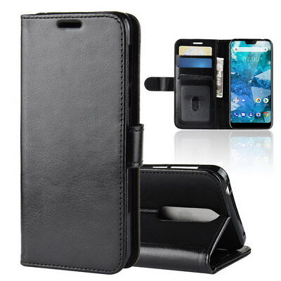 For Nokia 7.1 Smartphone Flip Protective PU Leather Stand Wallet Case Skin Cover