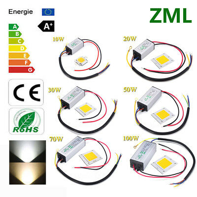 10W 20W 30W 50W 70W 100W LED COB Chip+LED Driver Waterproof IP65 Voltage 85~265V
