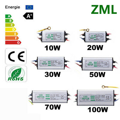 10W 50W 100W LED Driver 1-5 paquet Transformateur de pilote imperméable IP65 DIY