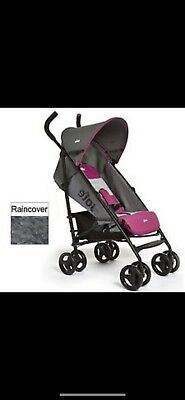 JOIE PINK STRIPE NITRO STROLLER/PUSHCHAIR With Raincover