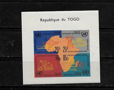TOGO SC #410a PARTS OF MAP OF AFRICA  MNH-MINT SOUVENIR SHEET SINGLE STAMP