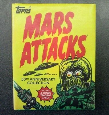 Mars Attacks 50Th Anniversary Hard Cover Book  2012 With Bonus 4 Bonus Cards