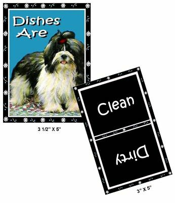 DOG DISHWASHER MAGNET (Shih Tzu) - Clean/Dirty *Ship FREE