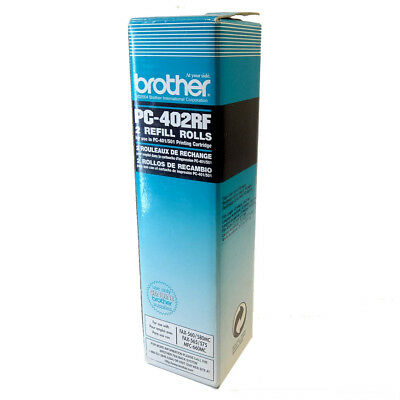 Genuine Brother PC-402RF Fax Ribbon Toner 2Refill Rolls For Use In PC-401/501