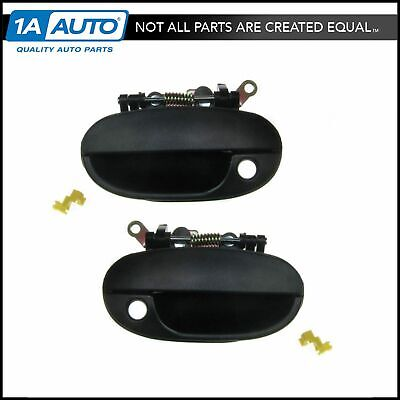 Black Front Exterior Outside Door Handle Left & Right Pair Set for 95-97 Accent