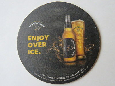 Beer Coaster: BULMERS Strongbow Apple Cider ~ Hereford, ENGLAND ~ Enjoy Over Ice