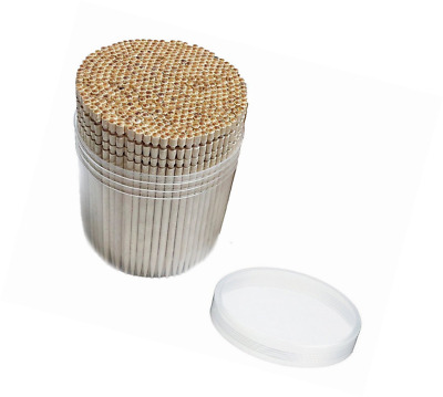 JSDOIN Ornate Wooden Cocktail Toothpicks with Holder,Bamboo 1000 pcs Perfect for