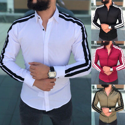 Hot Men's Slim Fit V Neck Short Sleeve Muscle Tee T-shirt Casual Tops Tee
