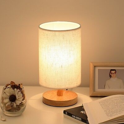 BABALI Bedside Lamp Night Light Warm White Bulb Dimmable Gift Wood Table lamp