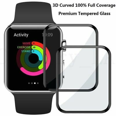 100% 3D Curved For 44 mm Apple Watch Series 4 Ⅳ Tempered Glass Screen Protector