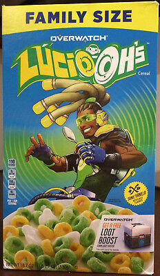 Global Shipping! Kellogg's Overwatch Lucio Ohs Cereal, Lucio-Ohs, Lucio-Oh Oh's