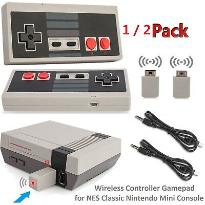 2*Wireless Game Controller Gamepad for Nintendo Mini Console NES Classic Version
