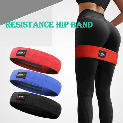 Fitness Resistance Hip Band Squat Glute Booty GYM Training Pilates Yoga Strap
