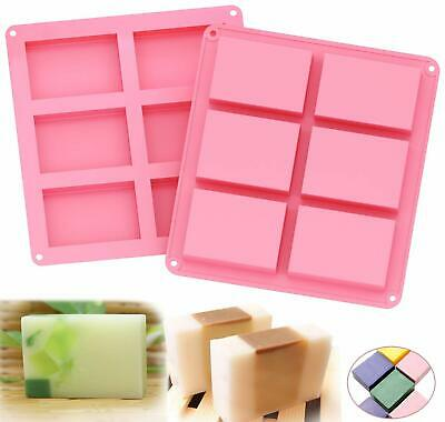 Cube Soap Mold Silicone  Ice Chocolate Mould Tray Homemade Making DIY Tool JU