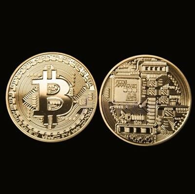 Bitcoin  Coin  Round  Bit  Commemorative  Gold Plated Coins is  Collectors Coin