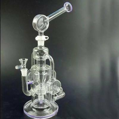 Cyclone Helix Bongs Such An Intricate Double Recycler Glass Bong Water Pipe Rigs