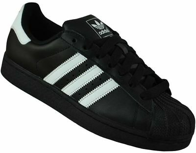 Adidas Superstar II Trainers Originals Trefoil Men's Shoes Sneaker Black/White