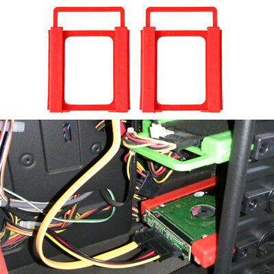 2x Hard Drive Disk Mounting Bracket Holder Adapter to 3.5'' Existing SSD Bay