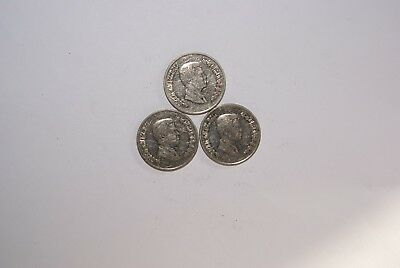 3 DIFFERENT 5 PIASTRE COINS from JORDAN (2006, 2008 & 2009)