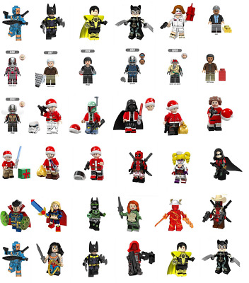 Custom fit Lego The Avengers Minifigures Building Toys Iron Man Sipderman Venom