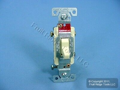 Cooper Wiring Ivory COMMERCIAL Toggle Wall Light Switch 3-Way 20A Bulk CS320V